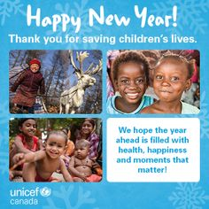 Happy New Year! Thanks for all you do to help save children's lives. Child Life, Happy New Year, Thankful, Canada, In This Moment, Baseball Cards, Happy New Years Eve