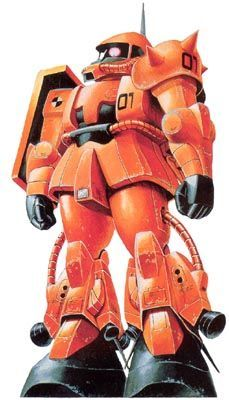 The MS-06RP Zaku II High Mobility Test Type is one of many variants of the standard MS-06 Zaku II created by the Principality of Zeon during the One Year War.