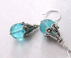 Philippines Donation Aqua Blue Glass Bead by SendingLoveGallery, $25.00