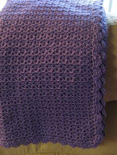 Violet V-Stitch Blanket