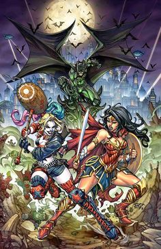 #Justice #League #Fan #Art. Justice League vs Suicide Squad: Transitive Comic variant #1 Cover) By: Paolo Pantalena. (Batman, Harley Quinn, Wonder Woman!) ÅWESOMENESS!!!™ ÅÅÅ+