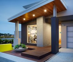 House Facade Modern Decks New Ideas Modern House Facades, House Entrance, House Roof, Modern House Design, House Exterior, Exterior House Colors, Exterior Design, House Designs Exterior, Flat Roof House
