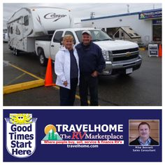 Congratulations to Terry & Sandra on the purchase of their 2010 Cougar 276RLS #fifthwheel from Mike! #cougarrv #RVing #travelhome #Camping #Travel