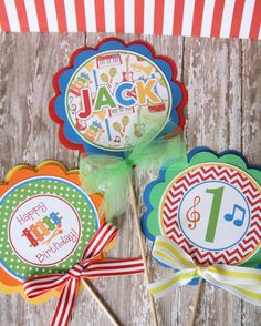 Musical Instruments Birthday Centerpiece Sticks, Musical Instruments Table Decorations by thelovelyapple on Etsy https://www.etsy.com/listing/230609648/musical-instruments-birthday-centerpiece