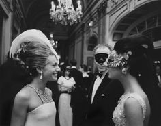 "the60sbazaar: "" Stylish guests at Truman Capote's Black and White Ball (1966) """