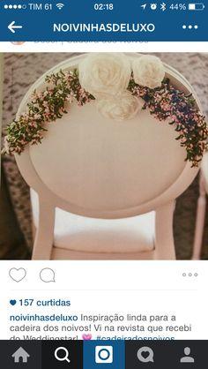 Coroa de flores pra decorar cadeiras