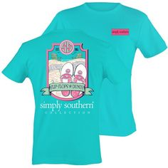 Simply Southern Preppy Flip Flops & Sand Dunes T-Shirt