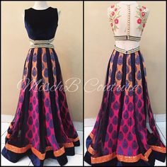 Bold and bright! Anarkali by MischB Couture Indian Gowns, Indian Attire, Pakistani Dresses, Indian Wear, Indian Outfits, India Fashion, Ethnic Fashion, Asian Fashion, Desi Clothes