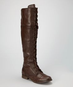 This Brown Future Leather Over-the-Knee Boot by ZiGi is perfect! #zulilyfinds
