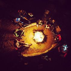 Gathering by the campfire.  Photo by @garrettgrove
