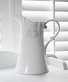 Shabby Chic Gifts For Your Home A Lovely White Ceramic Vase Or Jug From The White Lighthouse Furniture And Home Accessories