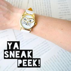 I was going to wait until tomorrow to post this...but I couldn't wait! Patience is for the birds (or some saying like that). As our sneak peek for the February YA crate we will be including a nerdy cat watch in every YA crate!!! 😺😻 You have my permission to freak out now. Annnd based on all of your Hogwarts pet preferences mentioned a couple weeks ago, I'm thinking you cat-loving subscribers are going to love this item! I've been wearing mine all day just hoping someone would ask me the…