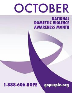 October is National Domestic Violence Awareness Month! Narcissistic Husband, Awareness Ribbons, Domestic Violence, Fibromyalgia, Breast Cancer, October, Favorite Color, Children, Kids