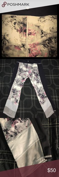 Lululemon rose 🌹 and sheer Yoga Pants Only worn once in excellent condition size 6 Lululemon yoga pants 💜❤️🤙 lululemon athletica Pants
