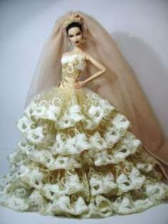 Wedding Bride Clothes Dress Outfit Gown Silkstone Barbie Fashion