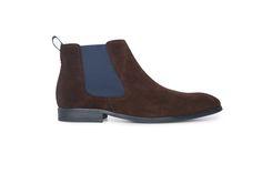Neformální polobotky střihu chelsea boots z veluru hnědé barvy. Chelsea Boots, Ankle, Men, Shoes, Fashion, Moda, Zapatos, Wall Plug, Shoes Outlet