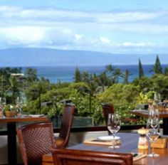 Order the truffel burger and upside pineapple cake and enjoy the view Pinapple Grill at Kapalua Resort