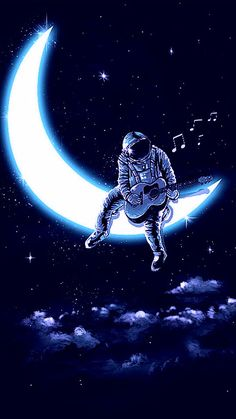 Music Man In The Moon Cross-Stitch Pattern***LOOK***