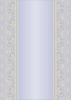 Vintage Lace Panel A4 Background Blue on Craftsuprint designed by Karen Adair - This is a pretty A4 sized background with a lace edged central panel. Great to line the outside of an A5 sized landscape tent card, or as an insert. Or whatever else you can think of! If you like this, check out my other designs, just click on my name. - Now available for download!