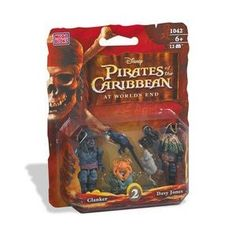 Pirates of the Caribbean: Davy Jones  Clanker Figure 2-Pack