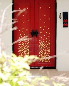 Beautiful Asian door - red with gold