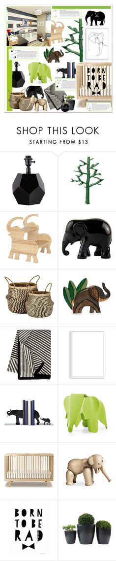 """Nursery Envy~THS 10/12"" by caroline-brazeau ❤ liked on Polyvore featuring interior, interiors, interior design, home, home decor, interior decorating, Nursery Works, CO, The Elephant Family and Murmur"