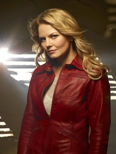 Veste cuir rouge once upon a time