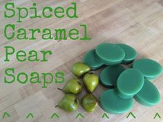 Spiced Caramel Pear Soap Recipe- Check out our website for our wholesale soap making supplies. #soapmaking #recipes #fragranceoil