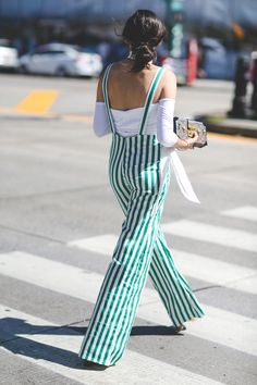 The Most Authentically Inspiring Street Style From New York #refinery29  http://www.refinery29.com/2015/09/93788/ny-fashion-week-spring-2016-street-style-pictures#slide-12  Not your average overalls....