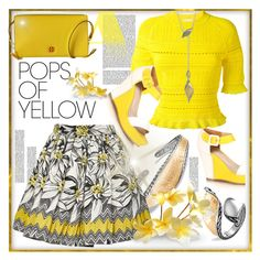 """""""Get Happy: Pops of Yellow"""" by helenaymangual ❤ liked on Polyvore featuring John Hardy, Alice + Olivia, 3.1 Phillip Lim, Tory Burch, PopsOfYellow and NYFWYellow"""
