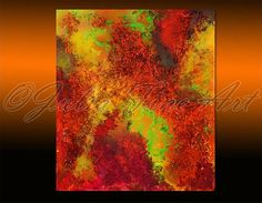 Giclee Large Abstract Print Canvas Orange by JuliaApostolova