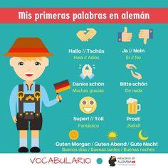 Mis primeras palabras en aleman. #Vocabulario #AprenderAlemán