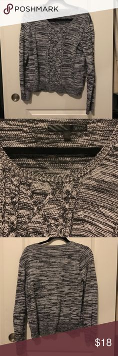 Vans Grey Cable Knit Sweater XL Vans Grey Cable Knit Sweater XL Vans Sweaters Crew & Scoop Necks