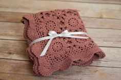 Mauve crochet Layering blanket newborn photography by thymeline, $20.00