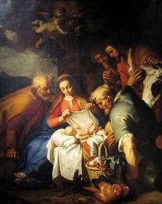 Abraham Bloemaert (1564-165): Adoración de los pastores.