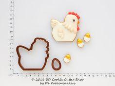 Chicken & Egg 2 Cookie Cutter Set от 3DCookieCutterShop на Etsy