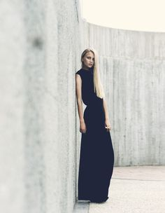 SS13Maxi Curve Dress by Edwin Tse.