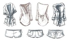 technical illustration for Abercrombie & Fitch brand Gilly Hicks, pen, marker and Adobe Photoshop portfolio   CADAMATRE
