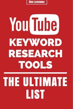 Finding the best keywords for Youtube is one of the best ways to outrank your competition. Using these keyword research tools, you will be on top of Youtube in no time.