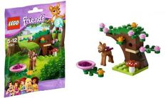 Amazon.com: Lego Friends Animals Fawn's Forest 41023 Series 3: Toys & Games