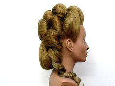 Buste virtuel de coiffure historique - Louis XVI (manque ornement)