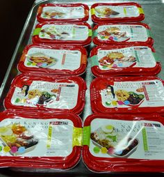 Air Asia's inflight meals. Photo by Keshie Hernitaningtyas
