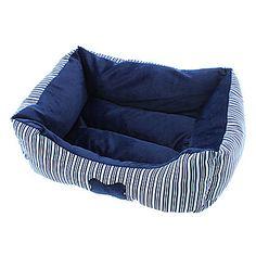 Confortável óssea Stripe padrão de cama de algodão para cães e gatos – BRL R$ 45,60