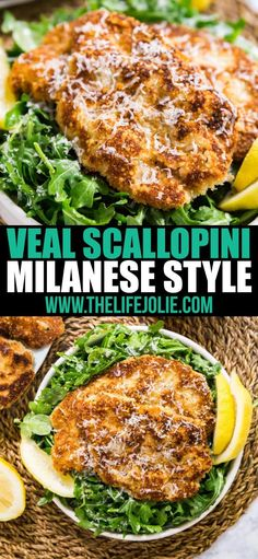 Veal Scallopini Milanese Style is a seriously easy weeknight dinner that's on the table in under 20 minutes. Made with veal cutlets, seasoned bread crumbs and Parmesan cheese, this is a light and nutritious dinner that's full of delicious flavor! Veal Scallopini, Veal Cutlet, Veal Saltimbocca, Pork Recipes, Cooking Recipes, Healthy Recipes, Yummy Recipes, Chicken Recipes, Garlic