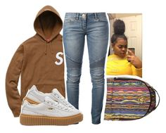 """""""Madonna ~ Drake"""" by retrovintagepizza ❤ liked on Polyvore featuring Balmain and Puma"""