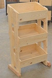This charming wood display rack comes with 9 wooden crates and allows you to display more product in one space. The floor rack is a great display for you. Ikea Furniture, Pallet Furniture, Furniture Stores, Wood Projects, Woodworking Projects, Youtube Woodworking, Woodworking Videos, Craft Booth Displays, Wood Display