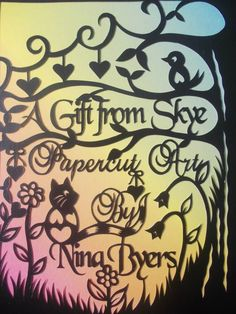 Original hand drawn papercut by Nina Byers. This one was designed to use as a profile picture from my Facebook page. :)