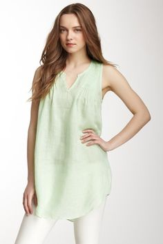 Calypso St. Barth Aida Linen Top by Blouse Boutique on @HauteLook