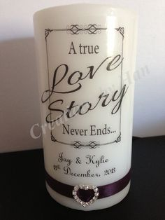 Love story candle