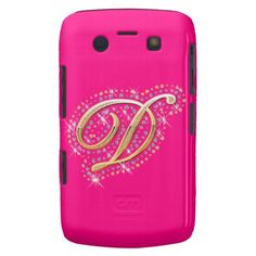 Pink Blackberry Case with Initial N Iphone 4 Cases, Perfect Pink, Pink Gifts, Ipod Touch, Tech Accessories, Blackberry, Personalized Gifts, Initials, Diamonds